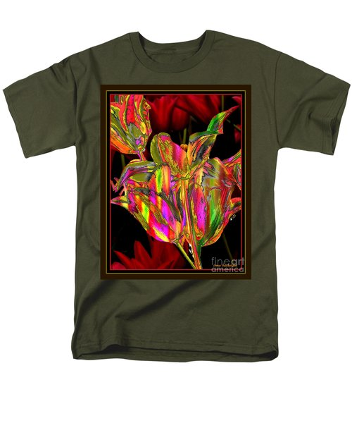 Painted Tulips Men's T-Shirt  (Regular Fit) by Irma BACKELANT GALLERIES