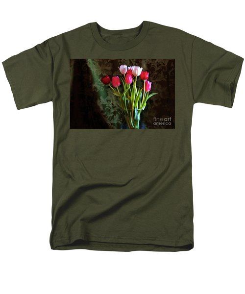 Painted Tulips Men's T-Shirt  (Regular Fit) by Joan Bertucci