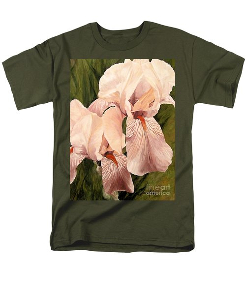 Pair Of Peach Iris  Men's T-Shirt  (Regular Fit) by Laurie Rohner