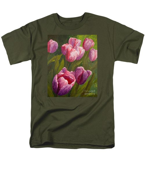 Palette Tulips Men's T-Shirt  (Regular Fit) by Phyllis Howard
