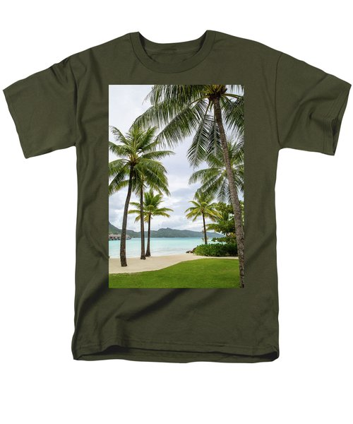 Men's T-Shirt  (Regular Fit) featuring the photograph Palm Trees 1 by Sharon Jones