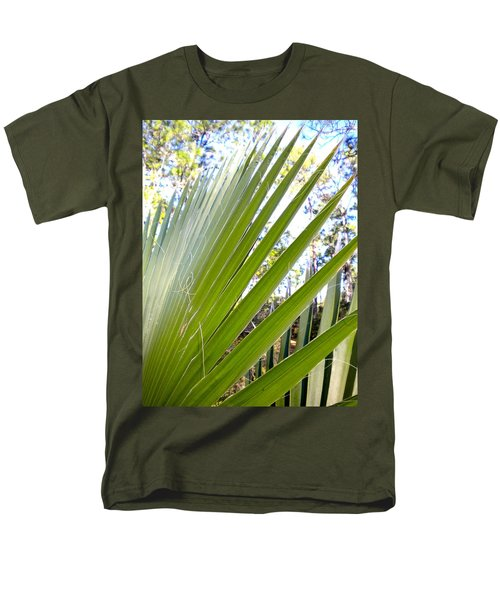 Men's T-Shirt  (Regular Fit) featuring the painting Palmetto 1 by Renate Nadi Wesley