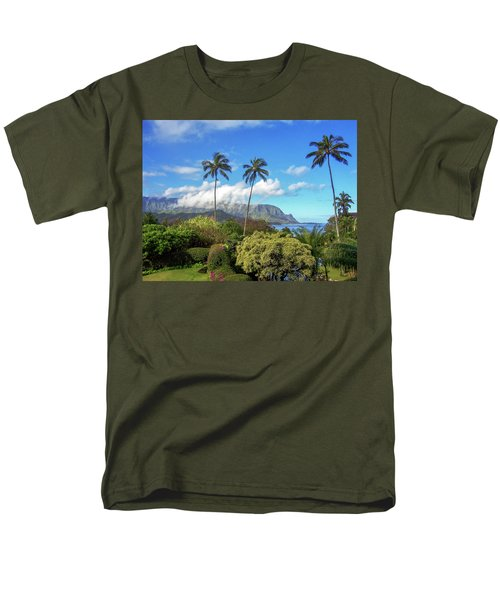 Palms At Hanalei Men's T-Shirt  (Regular Fit) by James Eddy