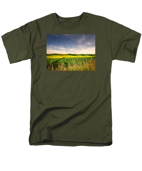 Men's T-Shirt  (Regular Fit) featuring the photograph Palouse Bounty by Dan Mihai