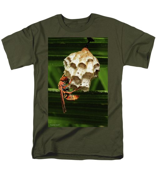 Paper Wasps 00666 Men's T-Shirt  (Regular Fit) by Kevin Chippindall