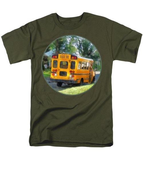 Parked School Bus Men's T-Shirt  (Regular Fit) by Susan Savad