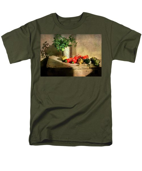 Men's T-Shirt  (Regular Fit) featuring the photograph Parsley And Peppers by Diana Angstadt