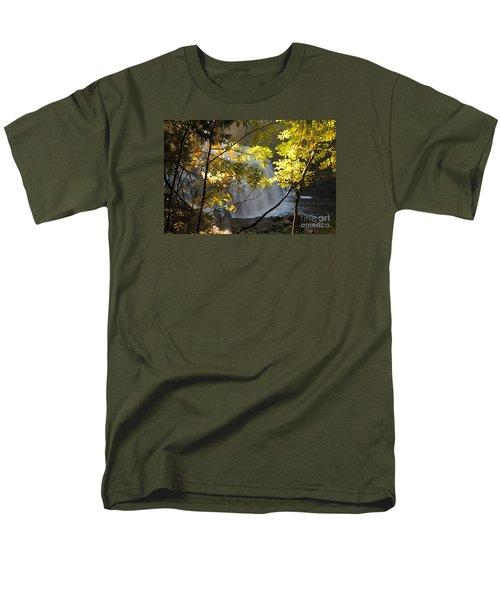 Men's T-Shirt  (Regular Fit) featuring the photograph Partridge Falls II by Sandra Updyke