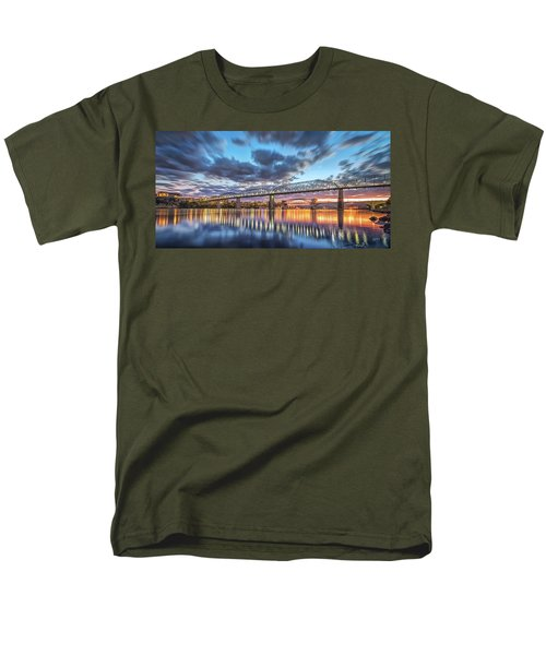 Passing Clouds Above Chattanooga Pano Men's T-Shirt  (Regular Fit) by Steven Llorca