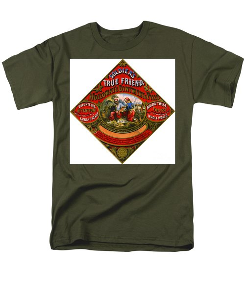 Men's T-Shirt  (Regular Fit) featuring the photograph Patent Medicine Label 1862 by Padre Art