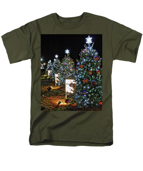 Men's T-Shirt  (Regular Fit) featuring the photograph Pathway Of Peace by Suzanne Stout