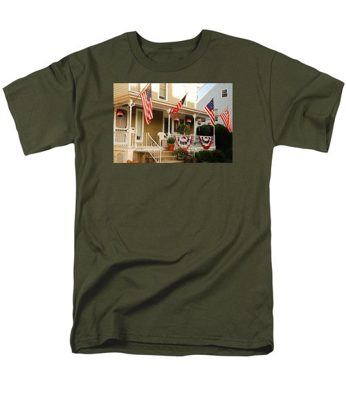 Men's T-Shirt  (Regular Fit) featuring the photograph Patriotic Home by James Kirkikis