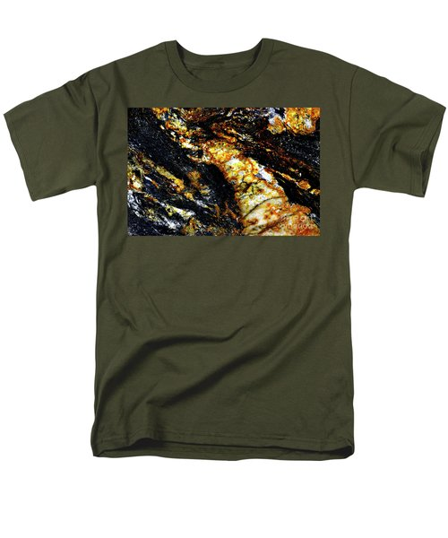 Men's T-Shirt  (Regular Fit) featuring the photograph Patterns In Stone - 190 by Paul W Faust - Impressions of Light