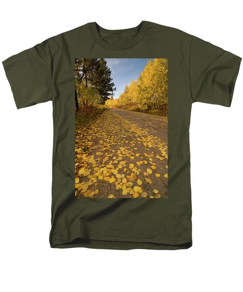 Men's T-Shirt  (Regular Fit) featuring the photograph Paved In Gold by Steve Stuller