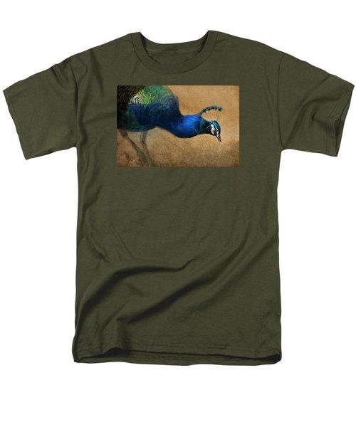 Men's T-Shirt  (Regular Fit) featuring the digital art Peacock Light by Aaron Blaise