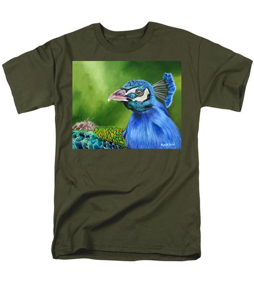 Peacock Profile Men's T-Shirt  (Regular Fit) by Phyllis Beiser