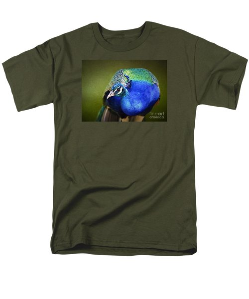Peacock Men's T-Shirt  (Regular Fit) by Suzanne Handel
