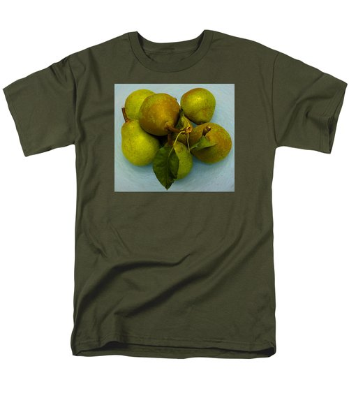 Men's T-Shirt  (Regular Fit) featuring the photograph Pears In Blue Bowl by Brenda Pressnall