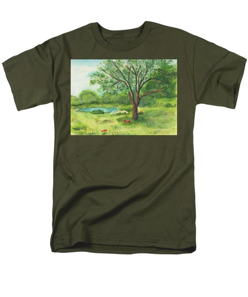 Men's T-Shirt  (Regular Fit) featuring the painting Pedro's Tree by Vicki  Housel