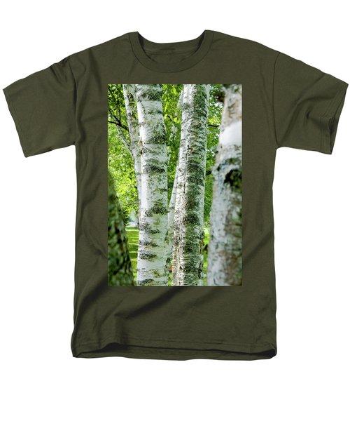 Men's T-Shirt  (Regular Fit) featuring the photograph Peek A Boo Birch by Greg Fortier