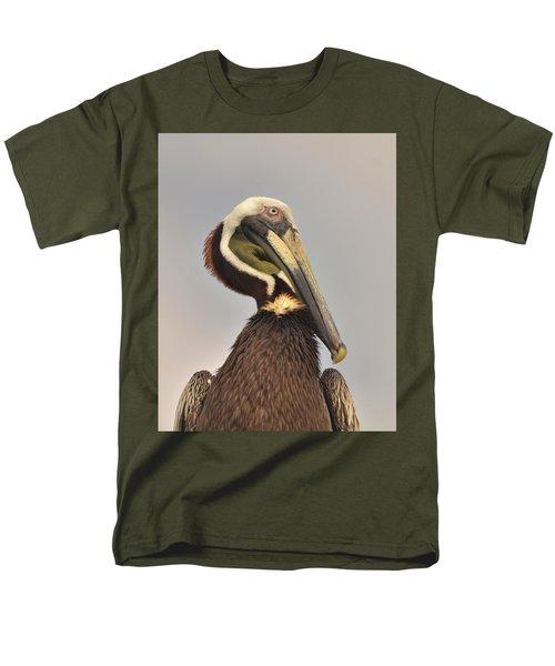 Pelican Portrait Men's T-Shirt  (Regular Fit) by Nancy Landry