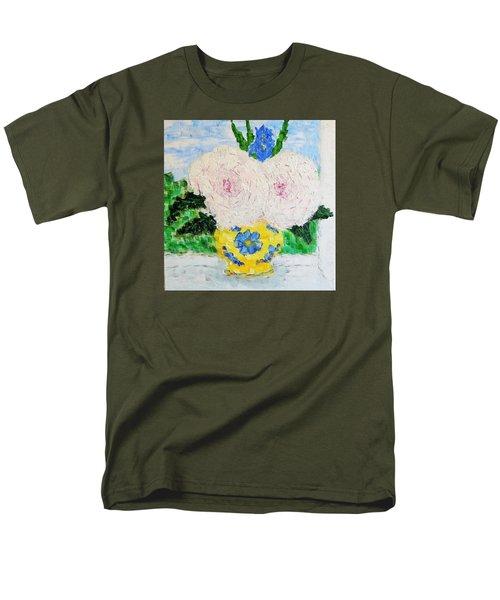Peonies And Iris On The Window. Men's T-Shirt  (Regular Fit) by Tamara Savchenko