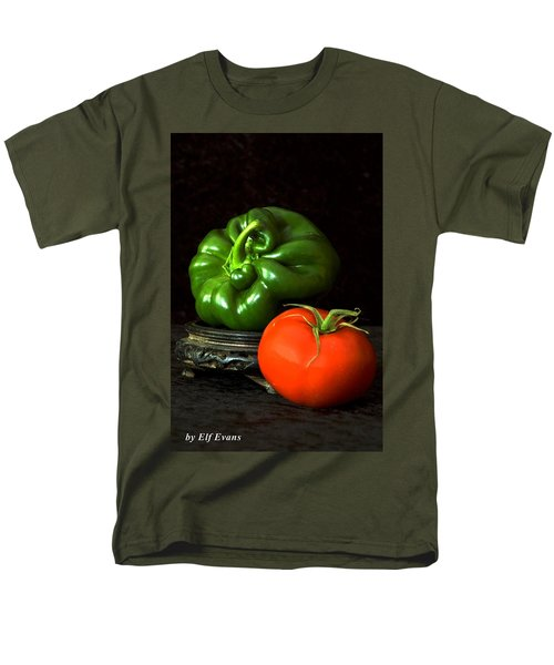 Pepper And Tomato Men's T-Shirt  (Regular Fit) by Elf Evans