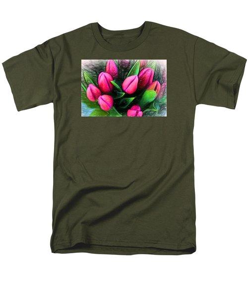 Petal Portrait Men's T-Shirt  (Regular Fit) by Terry Cork