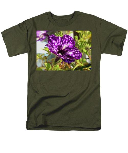petunia nightsky,Helloween colors  Men's T-Shirt  (Regular Fit) by Tamara Sushko