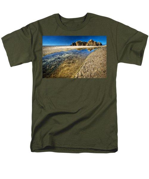 Men's T-Shirt  (Regular Fit) featuring the photograph Pheiffer Beach- Keyhole Rock #19 - Big Sur, Ca by Jennifer Rondinelli Reilly - Fine Art Photography