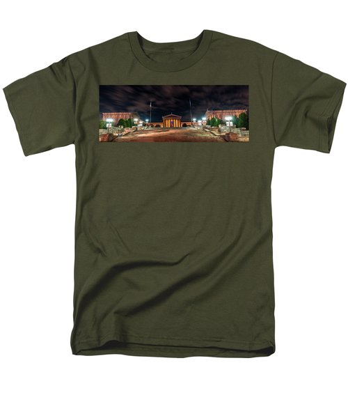 Men's T-Shirt  (Regular Fit) featuring the photograph Philadelphia Museum Of Art by Marvin Spates