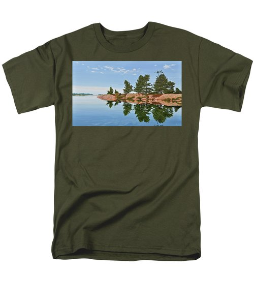 Men's T-Shirt  (Regular Fit) featuring the painting Philip Edward Island by Kenneth M Kirsch