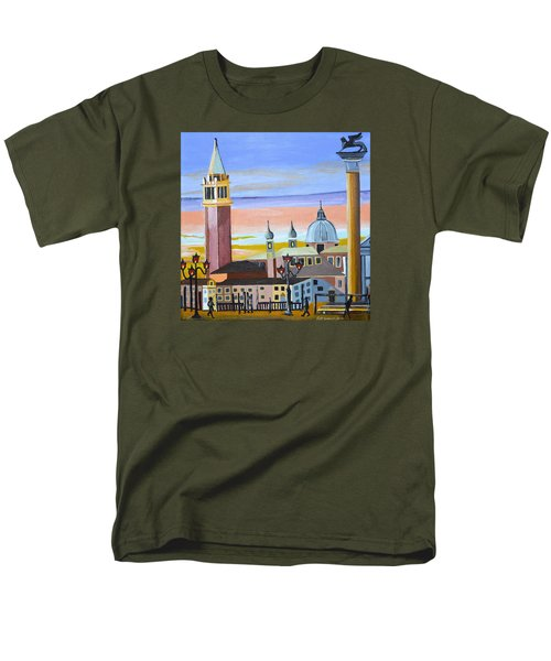 Piazza San Marco Men's T-Shirt  (Regular Fit) by Donna Blossom