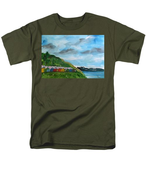 Picture Postcard View Of Scarborough Men's T-Shirt  (Regular Fit) by Carole Robins