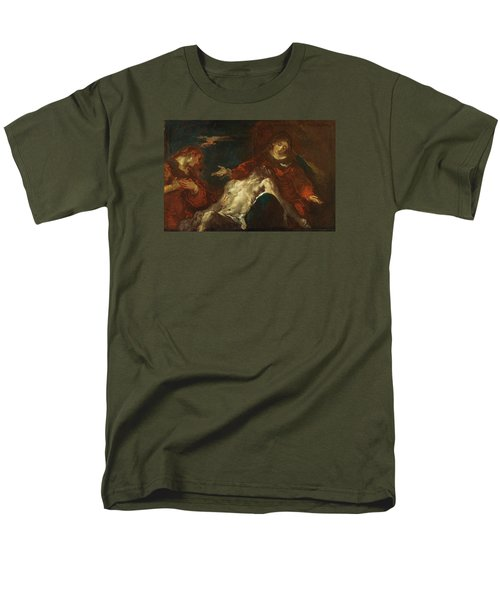 Men's T-Shirt  (Regular Fit) featuring the painting Pieta With Mary Magdalene by Giuseppe Bazzani