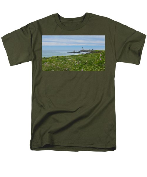 Pigeon Point Lighthouse Men's T-Shirt  (Regular Fit) by Mark Barclay