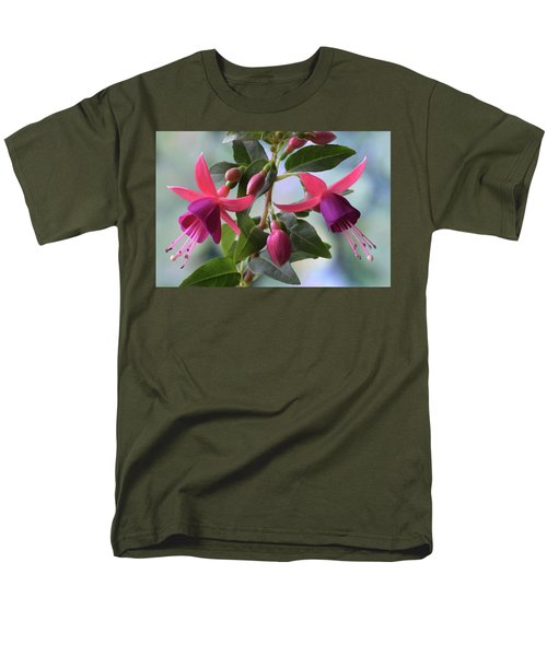 Men's T-Shirt  (Regular Fit) featuring the photograph Pink And Purple Fuchsia by Terence Davis