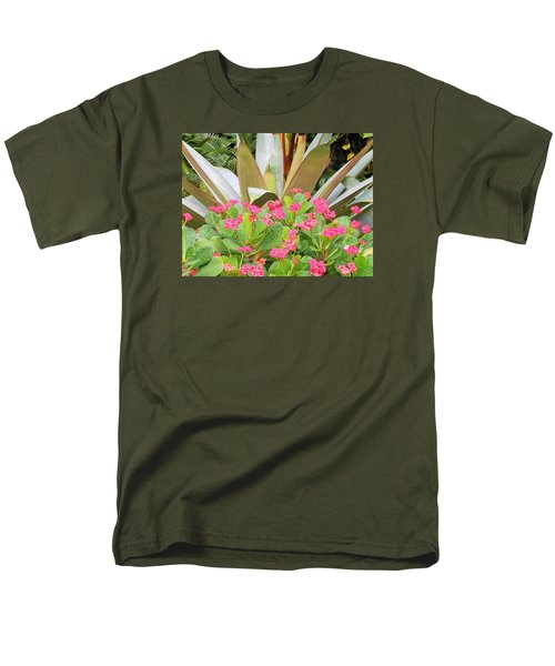 Men's T-Shirt  (Regular Fit) featuring the photograph Pink And Spiky by Kay Gilley