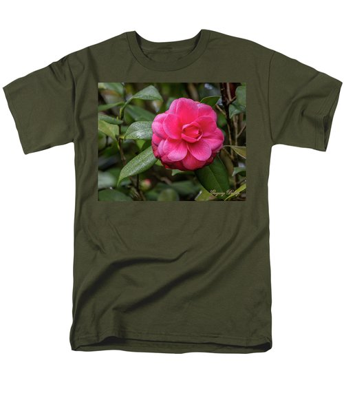 Men's T-Shirt  (Regular Fit) featuring the photograph Pink Camelia 02 by Gregory Daley  PPSA