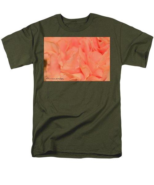 Pink Carnations Men's T-Shirt  (Regular Fit) by Nance Larson