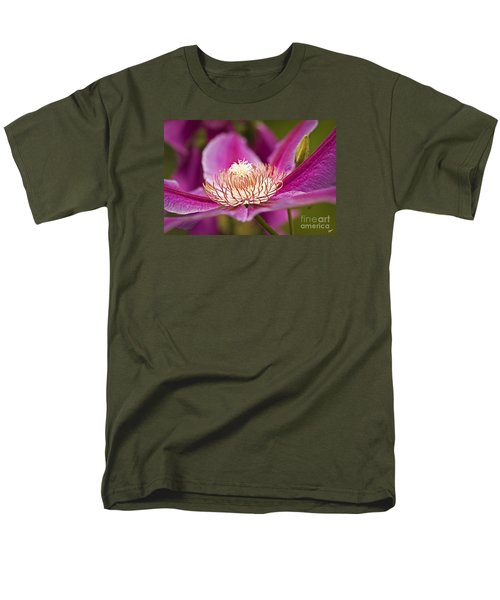 Men's T-Shirt  (Regular Fit) featuring the photograph Pink Clematis Flower by Alana Ranney