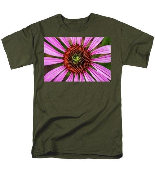 Men's T-Shirt  (Regular Fit) featuring the photograph Pink Cornflower by Joann Copeland-Paul