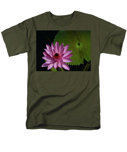 Pink Lotus Men's T-Shirt  (Regular Fit) by Evelyn Tambour