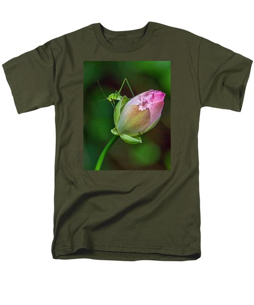 Men's T-Shirt  (Regular Fit) featuring the photograph Pink  Lotus With Company by Susi Stroud