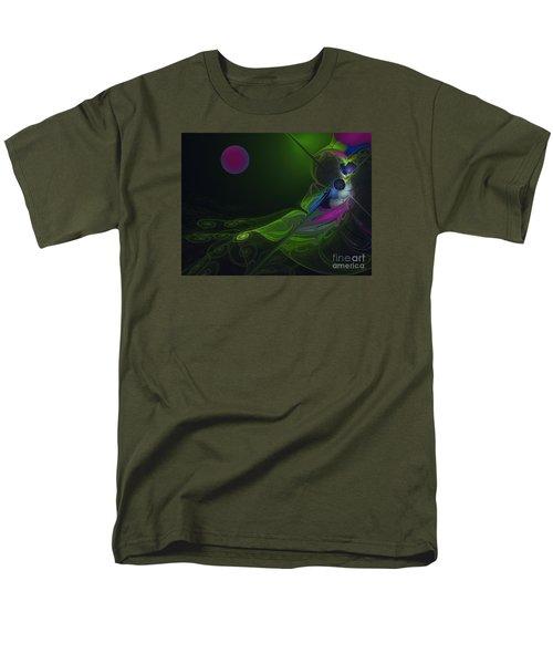 Men's T-Shirt  (Regular Fit) featuring the digital art Pink Moon by Karin Kuhlmann