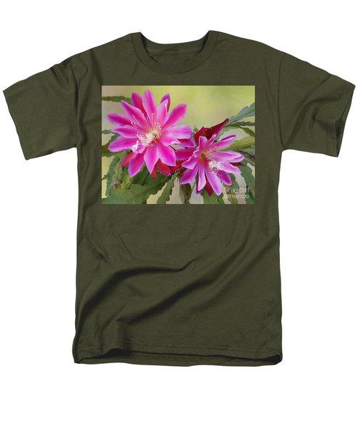 Pink Epiphyllum Lily Men's T-Shirt  (Regular Fit) by Myrna Bradshaw