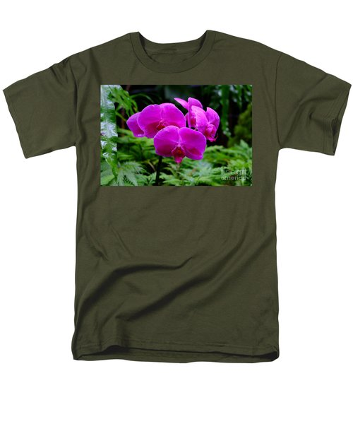 Pink Orchids Men's T-Shirt  (Regular Fit) by Mini Arora