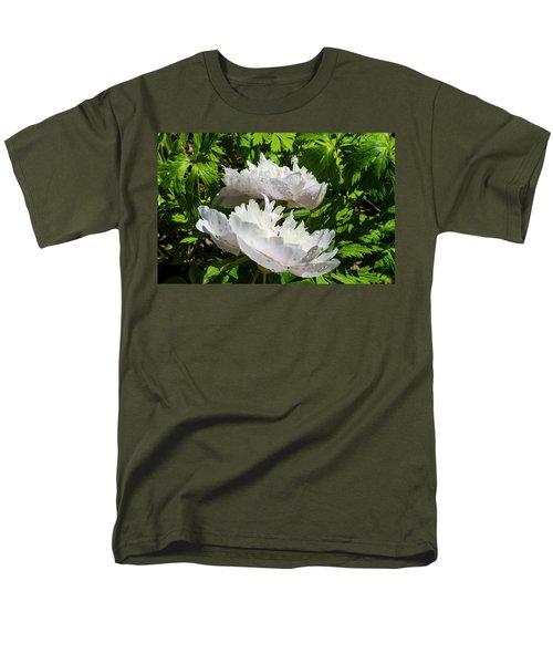 Pink Peony Men's T-Shirt  (Regular Fit) by Tamara Sushko