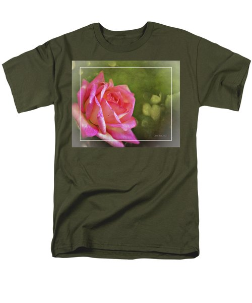 Pink Rose Dream Digital Art 3 Men's T-Shirt  (Regular Fit) by Walter Herrit