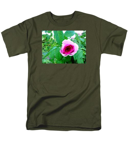 Men's T-Shirt  (Regular Fit) featuring the photograph Pink Rose by Sadie Reneau
